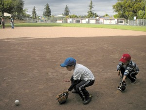 Max fielding a hot grounder